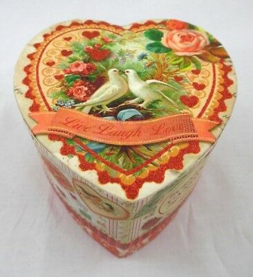 PUNCH STUDIO Scented Candle In A Victorian Heart Shaped Box More!