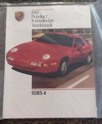 1987 Porsche 928S 4 Product Knowledge Self-Study Workbook Booklet