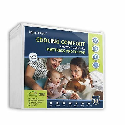 Cooling Comfort Tastex Cool-Ex Mattress Protector Mite Free Baby Bed Size