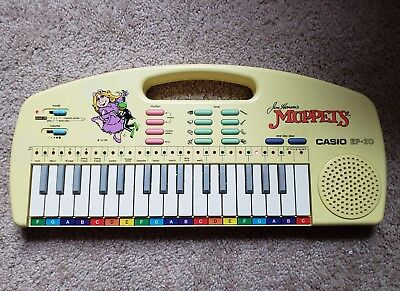 Casio Ep-20 Muppets Jim Henson Vintage 1987 Learning Lights Keyboard Tested Euc