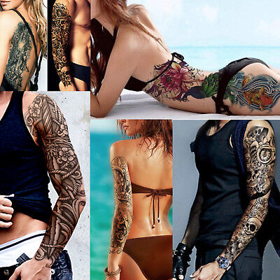 Temporary Tattoo Sleeves - Full Arm Sleeve Waterproof Fancy Dress Body Art