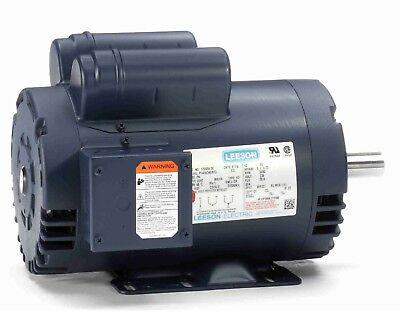 "LEESON 120554.00 5HP Compressor Duty Motor, 3450 RPM, 230V 1Ph, 145T, 7/8"" Shaft"