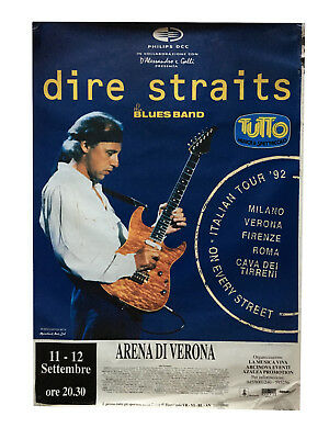 DIRE STRAITS, Verona (Italy) 11-12-9-1991 On Every Street World Tour, poster