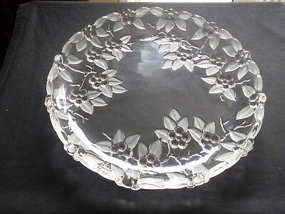 Original Walther Glas. Large Cake Plate. 31Cm X 23X  4.2. Unused