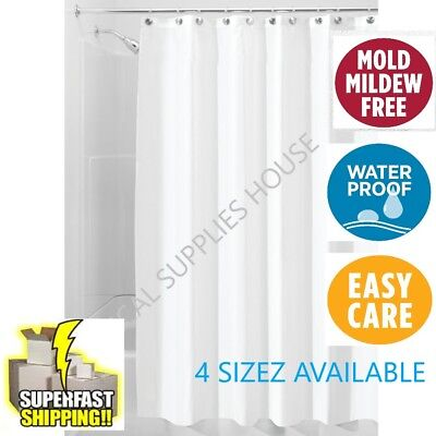 Mildew Resistant Shower Curtain Liner Bathroom Waterproof Cover 72 X White
