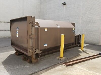 """Ramjet Large Commercial Trash Compactor Dumpster 220""""x94""""x87"""" Delivery Available"""