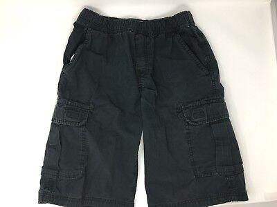 TCP The Children's Place Boys Pull-on Cargo Shorts adjustable waist 14 Black