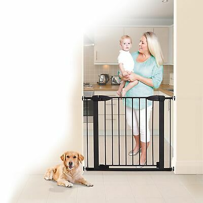 Dreambaby Baby / Kids Boston Auto-Close Gate with Extensions Black L2028