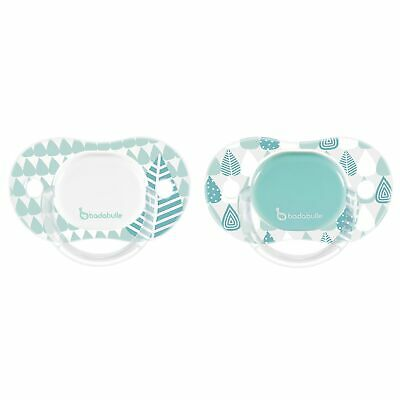 Badabulle Baby / Kids / Childs Reversible Soothers Blue Trees (Boy) B011003