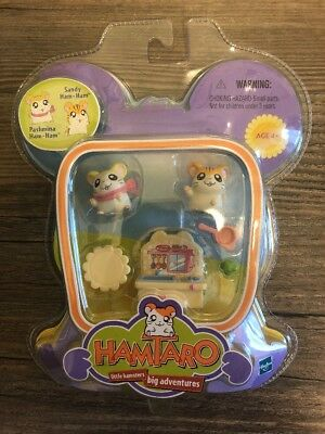 Vintage Ham Ham Pashmina Sandy Toy Kitchen Play Set Hamtaro 2002 Anime
