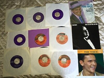 Lot Of 12 Frank Sinatra 45 rpm Records...VG+ Range..Various Labels. ALL PICTURED