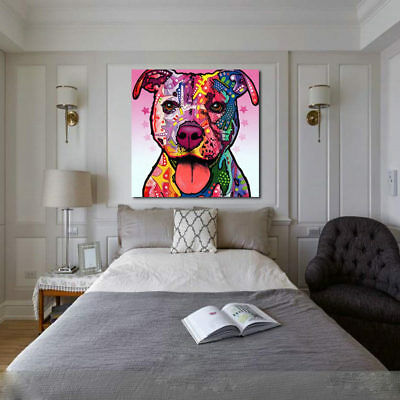 Dog Inkjet Painting Canvas Art Wall Poster Modern Painting Decor Living Room