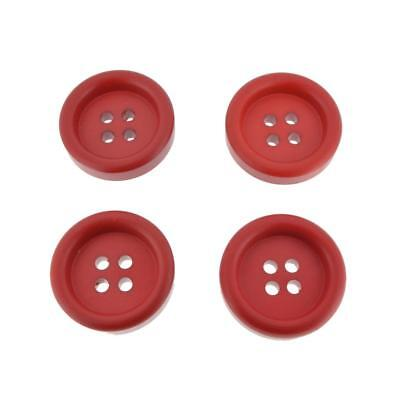 8pc 25mm Postbox Red Shirt Blouse Cardigan Baby Kids Button 0744