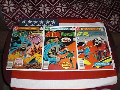 The Brave And The Bold No.133 & No.134 Vf 1977 & No.193  Vf Dc Comics Lot Of 3