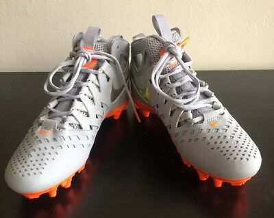 Nike Mens Huarache V 5 Elite Thompson Lacrosse LAX Cleat Gray 857036 080 Sz 7.5