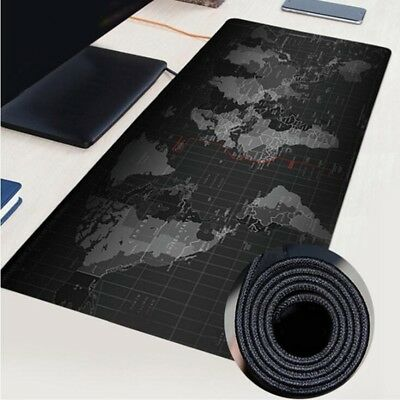 3 Sizes World Map Design Wide Large Computer Mouse Pad Desk Mat Black UK