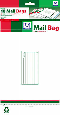 Pack of 10 Peel and Seal Size 235 x 160 mm Small Mailing Bag Envelope White Bags