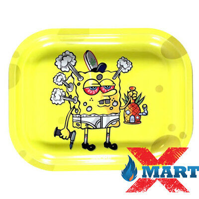 Smoke Arsenal SPONGEBONG Cigarette Tobacco Metal Small Rolling Tray 7x5