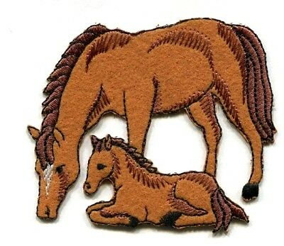 HORSE MOTHER AND BABY IRON ON PATCH 2 1/2 X 2 inch - $4 99