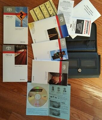 2010 toyota prius owners manual set with navigation book dvd hard rh picclick com 2015 Toyota Prius toyota prius owners manual 2015