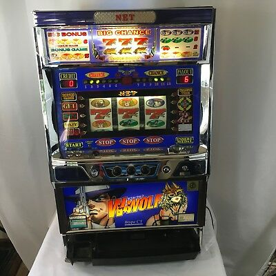 W Wolf Digital Japanese  NET (Pachislo ?) Skill Stop Slot Machine Tokens Only