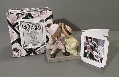 "2000 Enesco Pretty as a Picture ""2 Girls Sitting on Step with Rose"" Figurine"
