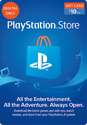 Playstation Network $10 USD Gift Card for PSN United States (Digital Delivery)