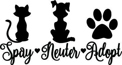 WHO RESCUED WHO Dog Paw Hand Bumper Sticker Car Decal Pets