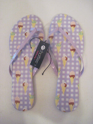 b99663bfa51222 Chatties Sole Searching Ice Cream Cone Print Flip Flops Size XL size 11  (New)