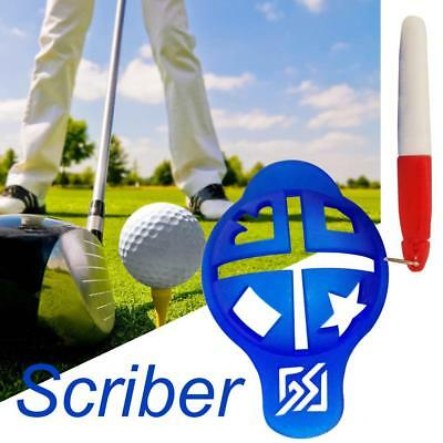 Golf Ball Spot Liner Alignment Stencil Line Marker Template Green