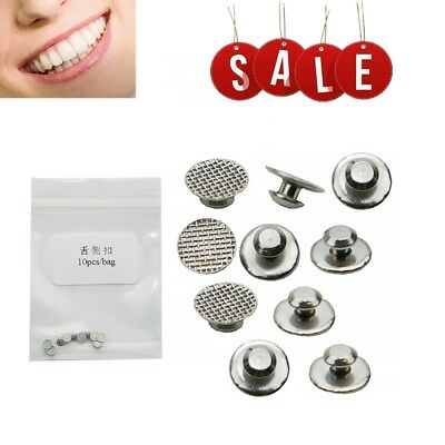 Dental Orthodontic Lingual Button for Bondable Round Mesh Base Monoblock