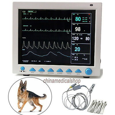 Veterinary ICU Patient Monitor ECG NIBP SPO2 RESP TEMP Pulse rate for animal use