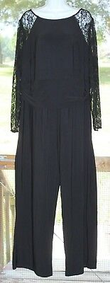 Women Plus Size Jumpsuit Romper Ashley Stewart 26w Nwt Black