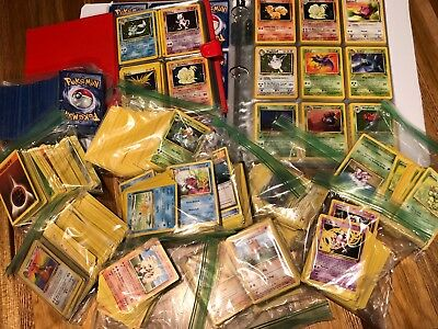 Original Vintage Pokemon Cards LOT + 1st Edition and/or holo (50 card lot)