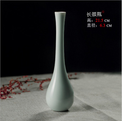 Hand-made Ceramic Vase White Porcelain Crafts Chinese Decorative Home Decoration