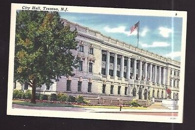 Vintage Postcard Linen City Hall Trenton New Jersey