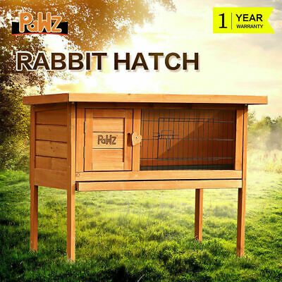 PaWz Rabbit Hutch Chicken Coop Guinea Pig Wooden Animal Pet Cage House Slide-out