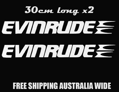 EVINRUDE BOAT STICKERS X2 Car Trailer Boat Fishing CHOOSE YOUR COLOR