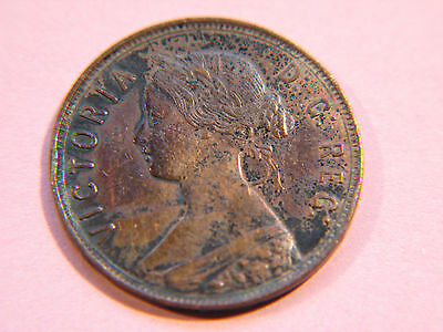 NewFoundLand 1872 H, Canadian Large Cent Coin , Queen Victoria