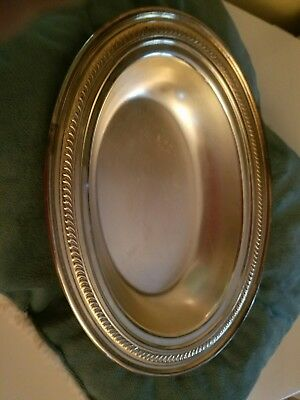 Vintage Fb Rogers Silver Co. Oval Shaped Silver Plated Platter