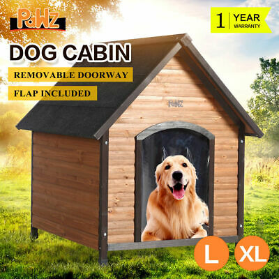 PaWz Dog House Pet Kennel Wooden Timber Outdoor Garden Puppy Box Extra Large NEW