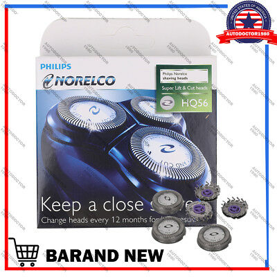 3pcs Phillps Norelco HQ56 HQ55 HQ4 Shaver Razor Head Blades Cutter High quality.