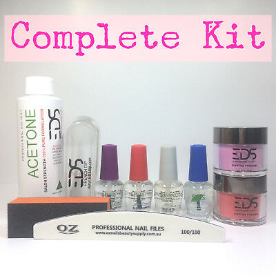 EDS SNS Gelish Dip Dipping Powder Matching OPI Choose 2 Colors Acetone Nail Kit