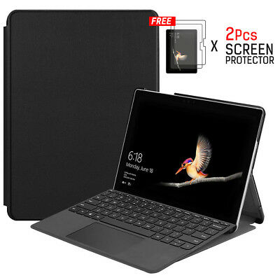 Surface Go Case Cover, PU Leather Smart Case with Stand Function and Pen Slot