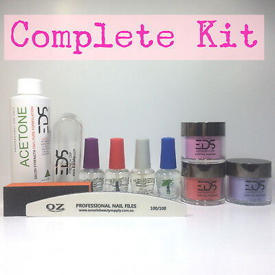 EDS SNS Gelish Dip Dipping Powder Matching OPI Choose 3 Colors Acetone Nail Kit