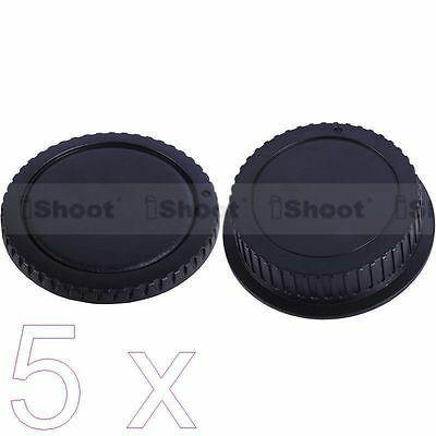 5 New Type Protector Body Cover Rear Cap for Canon EOS DSLR Camera EF EF-S Lens