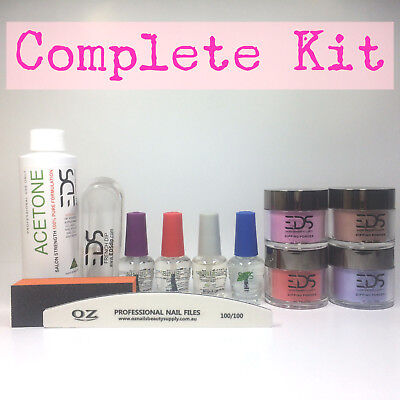 EDS SNS Gelish Dip Dipping Powder Matching OPI Choose 4 Colors Acetone Nail Kit