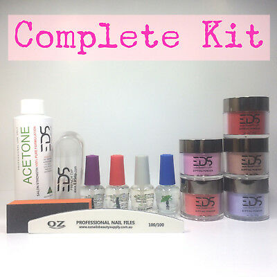 EDS SNS Gelish Dip Dipping Powder Matching OPI Choose 5 Colors Acetone Nail Kit