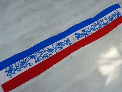 Ancienne Echarpe old scarf FRANCE FFF signé signed ROBERT PIRES ultras foot 383ba0e0969