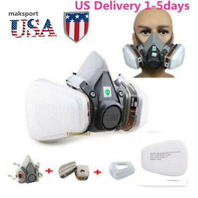 USA Gas Mask F 6200 Painting Spray Dust Protect  Respirator Set 7 in 1 half Face